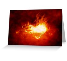 Abstract Digital Heart on Fire Greeting Card