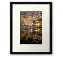 Ultimate Reflections - Narrabeen Lakes - The HDR Experience Framed Print