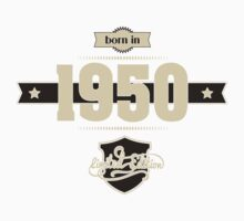 Born in 1950 (Cream&Choco) Kids Tee