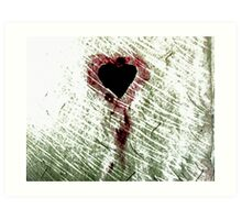 Abstract Digital Grunge Heart Art Print