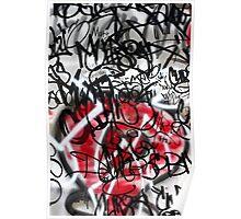 Abstract Digital Grafitti Heart Poster