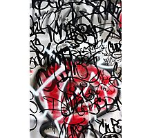 Abstract Digital Grafitti Heart Photographic Print
