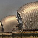 Thames Barrier Wrapped by Karen Martin