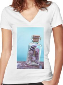 Beach in a Bottle Women's Fitted V-Neck T-Shirt