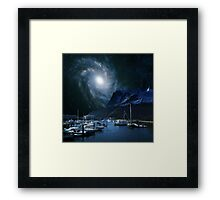 Galaxies Edge Harbour Framed Print