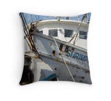 Shrimp Chaser Throw Pillow