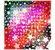 Abstract Digital Stars Poster