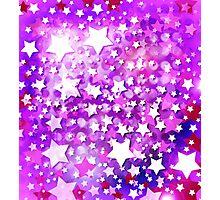 Abstract Digital Stars Photographic Print