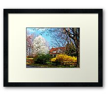 House on the Hill in Spring Framed Print