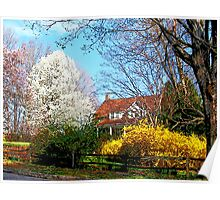 House on the Hill in Spring Poster