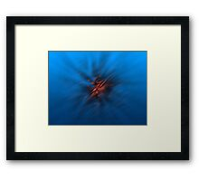 Abstract Digital Blurred Star Framed Print