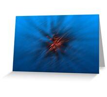 Abstract Digital Blurred Star Greeting Card