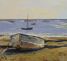 Boats in Provincetown Harbor by Michael Creese
