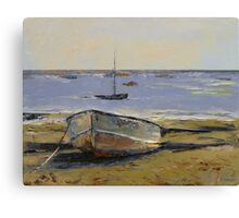 Boats in Provincetown Harbor Canvas Print