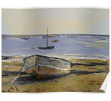 Boats in Provincetown Harbor Poster