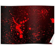 Grunge Bloody Red Texture Background Poster