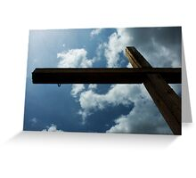 San Antonio Mission Cross Greeting Card