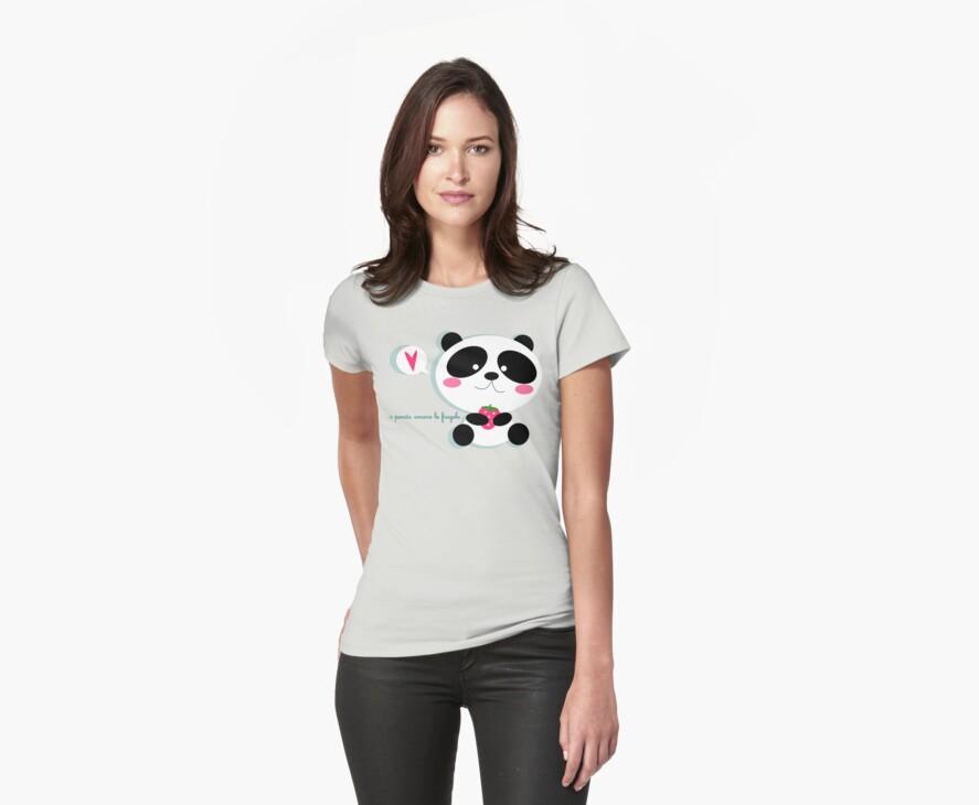 i panda amano le fragole by claclina