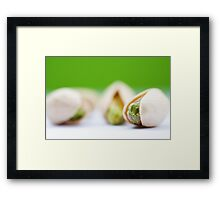 Pistachio on pistachio Framed Print