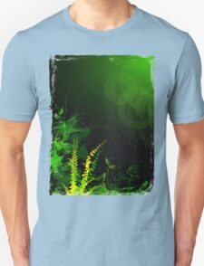 Abstract Digital Green Leaves Background T-Shirt