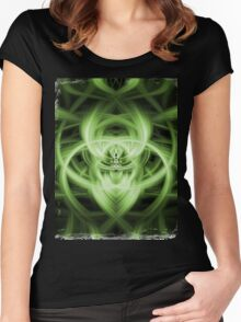 Abstract Digital Background Women's Fitted Scoop T-Shirt