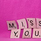 Miss You Card by Rachel Sonnenschein