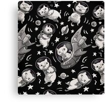 Kittens in Space Canvas Print