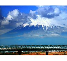 Mt. Fuji & Bullet Train in Japan Photographic Print