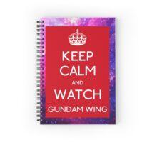 keep calm and watch Gundam Wing RED Galaxy Spiral Notebook