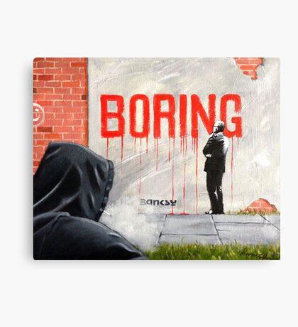 Boring BANKSY Canvas Print