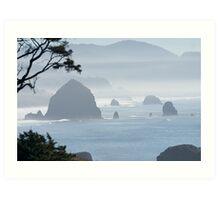 A Misty Day at the Oregon Coast Art Print