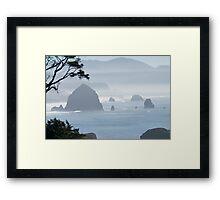 A Misty Day at the Oregon Coast Framed Print
