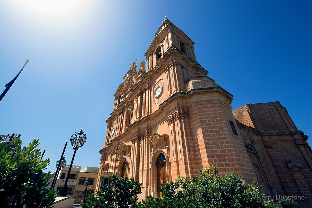 Mellieha Parish Church, Malta by Kerry Dunstone