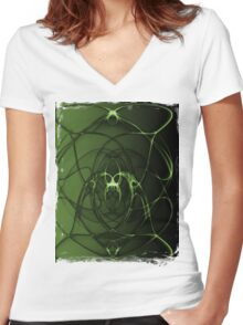 Abstract Digital Background Women's Fitted V-Neck T-Shirt