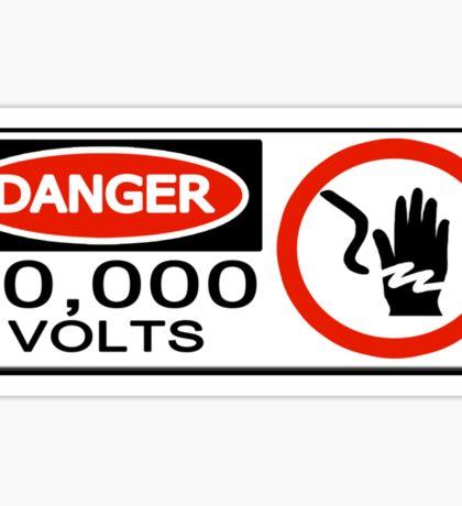 10,000 Volts Sticker