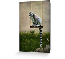 The Lemur Swing Greeting Card