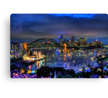 Lavender Blue - Moods Of A City - The HDR Experience Canvas Print