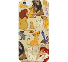 The Lion King Character Collage. iPhone Case/Skin