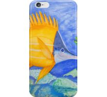 yellow and parrott fish. ipad. iphone iPhone Case/Skin