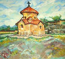 Karmravor Church VII Century Armenia  by Helena Bebirian