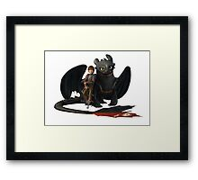 hi cup and toothless Framed Print