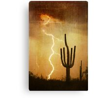 SW Saguaro Desert Landscape Canvas Print