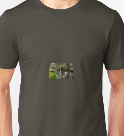 Canal Barge and Reflections Unisex T-Shirt