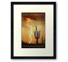 Arizona Saguaro Lightning Storm Poster Print Framed Print