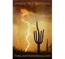 Arizona Saguaro Lightning Storm Poster Print Photographic Print