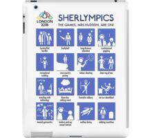Sherlympics (print/poster/notebook) iPad Case/Skin