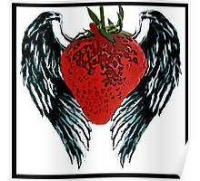 angel winged strawberry Poster