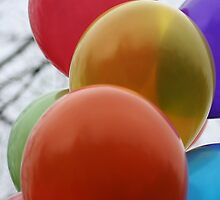 Helium Balloons by Lynn  Gibbons