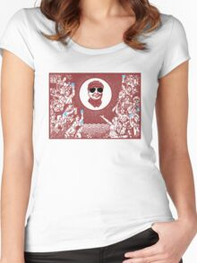 Chairman Mao Women's Fitted Scoop T-Shirt