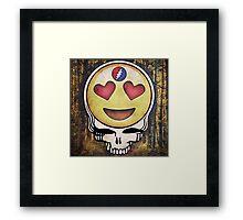 Love Emoji Framed Print